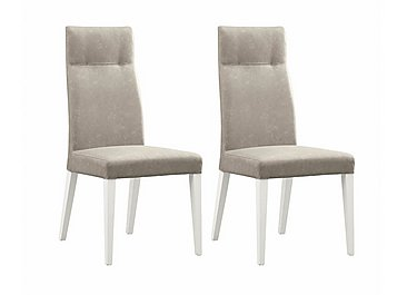 Fascino Pair of Faux Leather Dining Chairs in  on FV