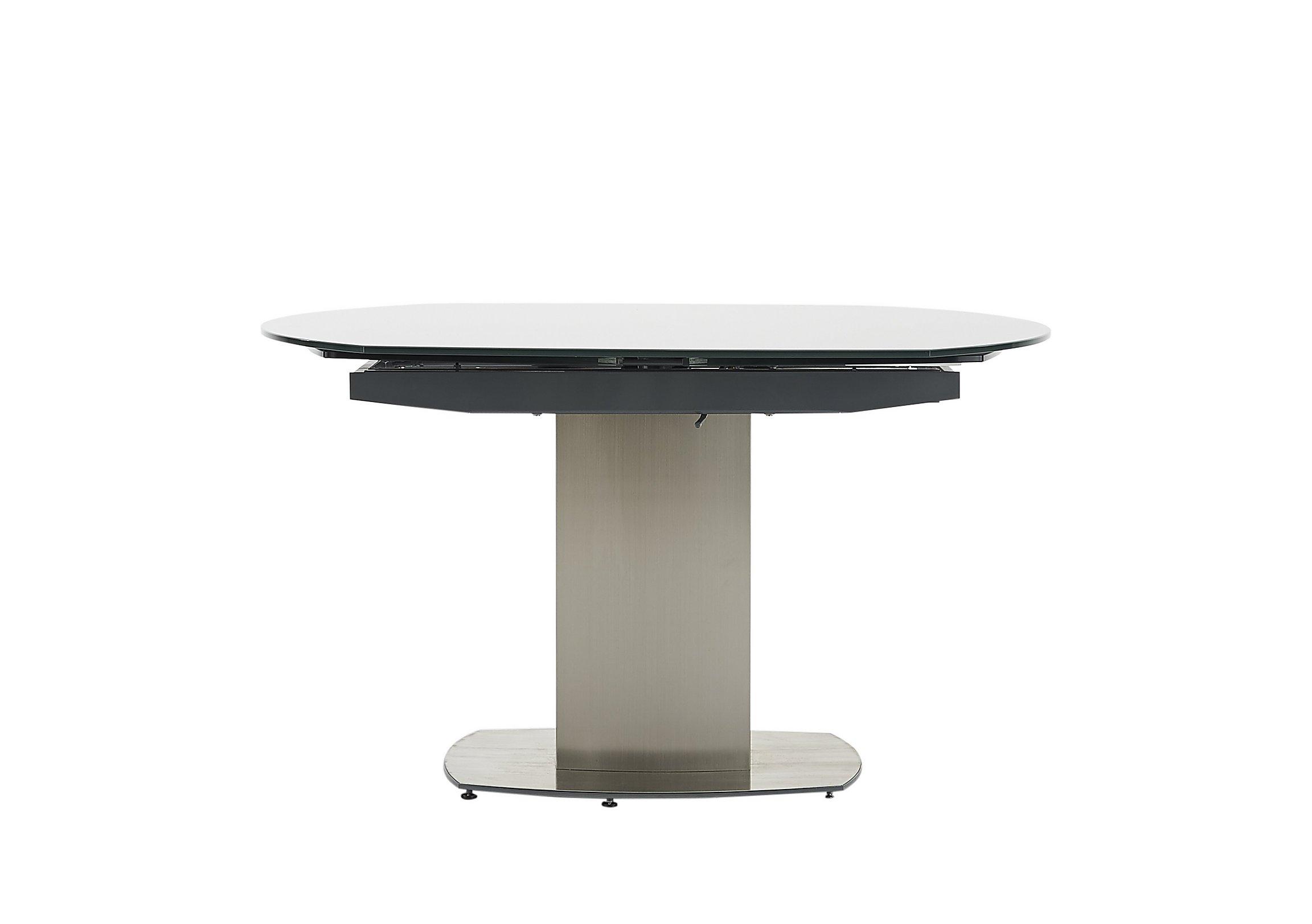 flow swivel glass extending dining table  furniture village - flow swivel glass extending dining table