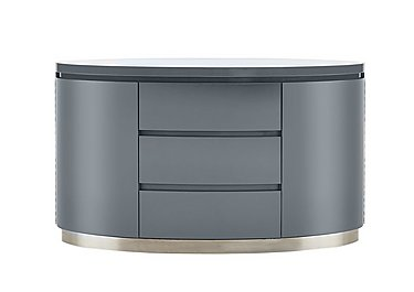 Flow Grey High-Gloss Sideboard in  on Furniture Village