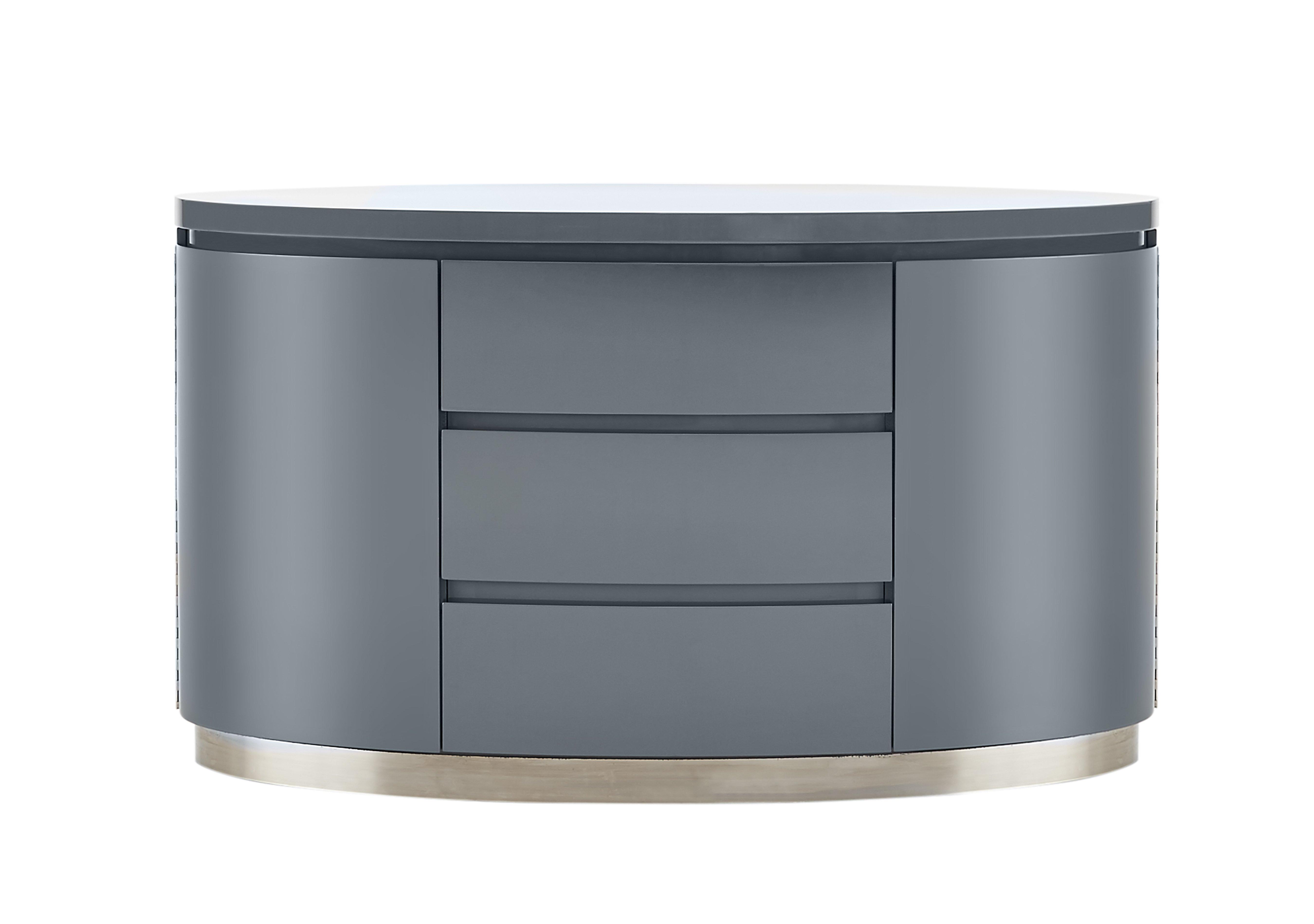 Furniture Village Insurance flow grey high-gloss sideboard - furniture village