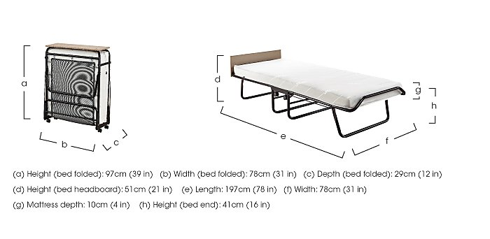 Luxury Folding Bed with Airflow Fibre Mattress in  on FV