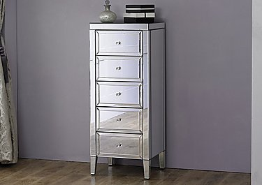 Francesca 5 Drawer Narrow Chest in  on FV