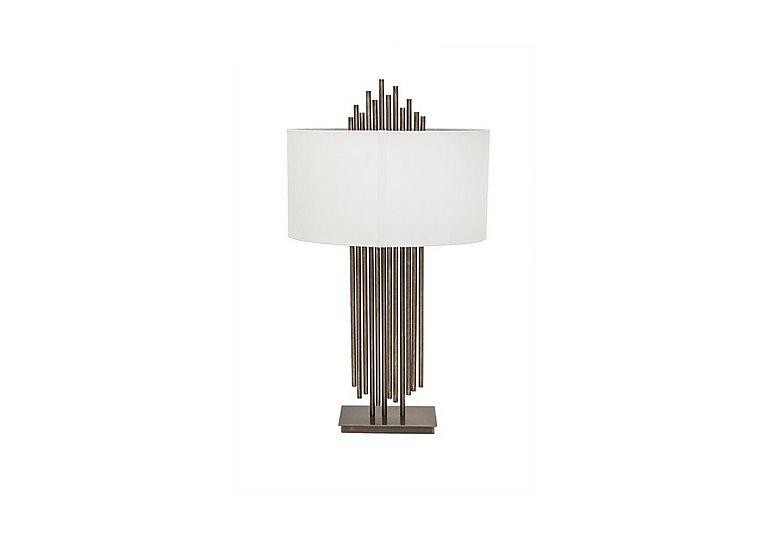 Franz Dark Antique Brass Table Lamp in  on Furniture Village