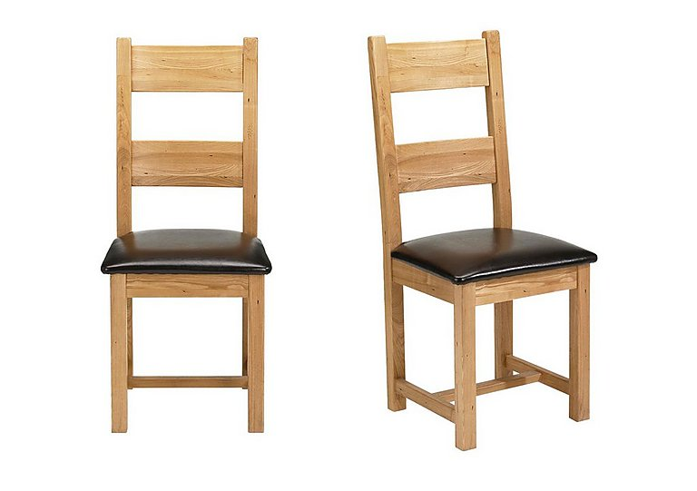 Furniture Village Dining Chairs lyon pair of wooden dining chairs - furniture village