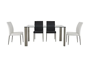 Fuze Dining Table and 4 Chairs