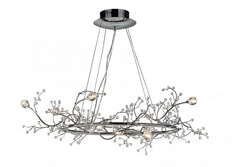 Gazetta 8 Light Round Pendant in  on FV