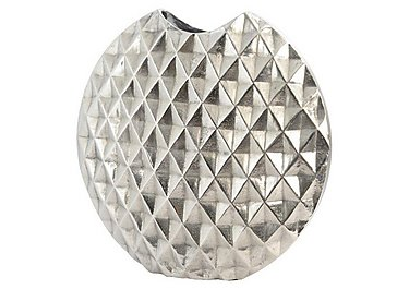 Geo Cut Aluminium Vase Large in  on FV