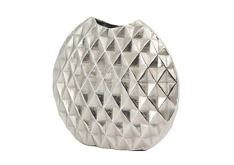 Geo Cut Aluminium Vase Small in  on FV