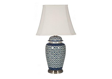 Porcelain Ginger Jar Table Lamp in  on Furniture Village
