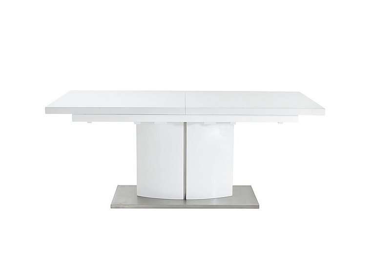 Grande White High Gloss Extending Dining Table
