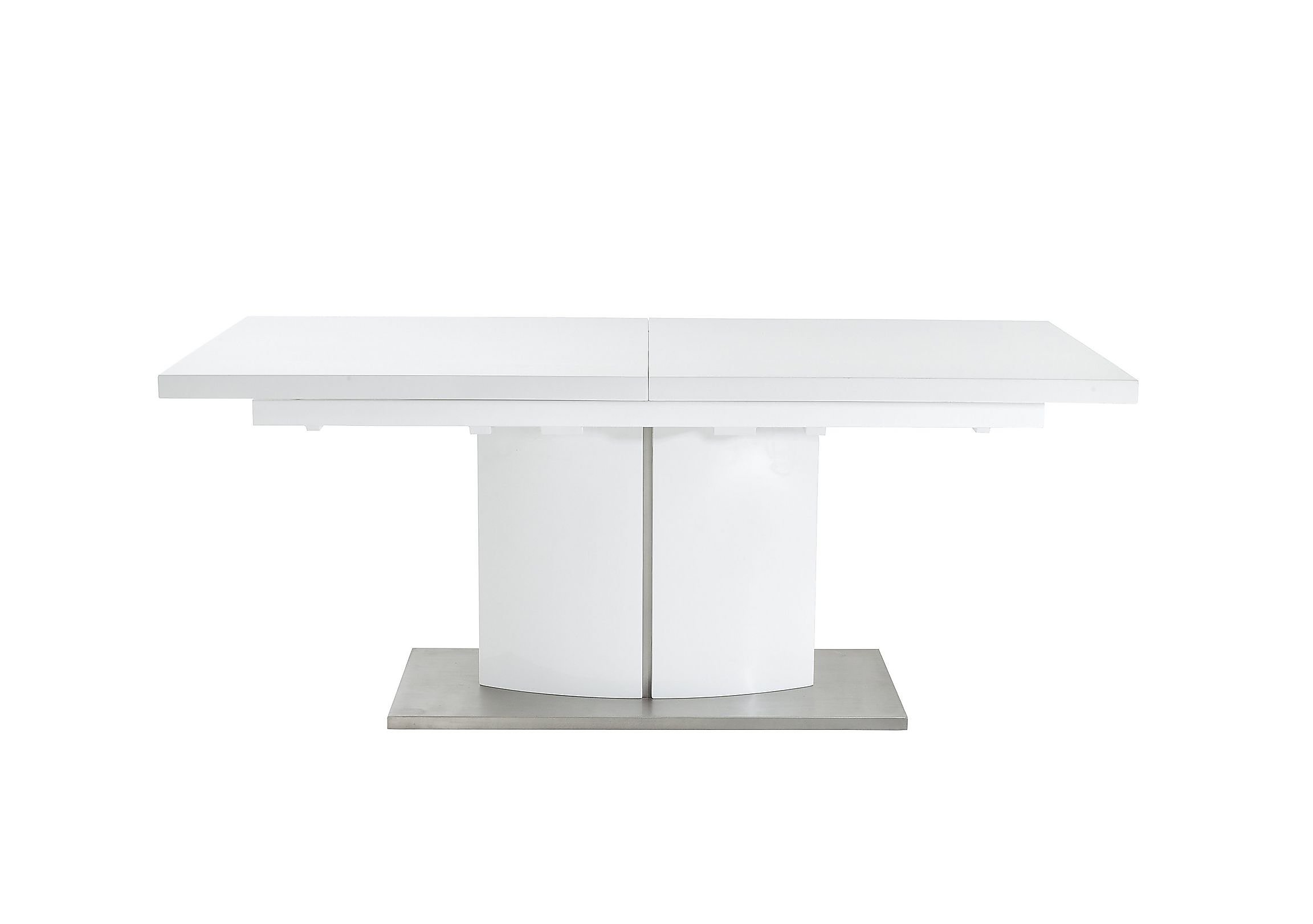 grande white high gloss extending dining table  furniture village - grande white high gloss extending dining table