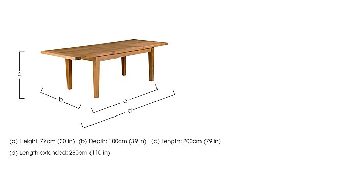 Horizon Extra Large Extending Table in  on FV