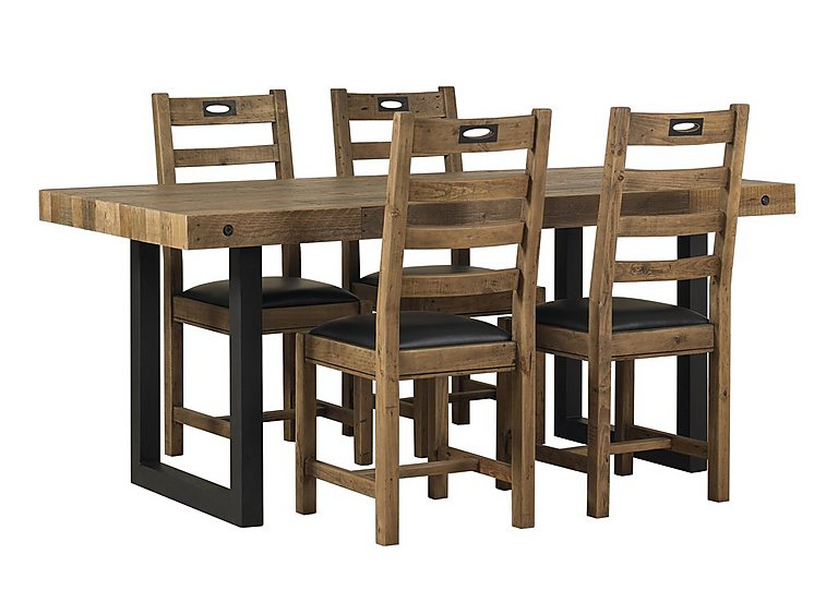 Hoxton dining table with 4 chairs furniture village for Four chair dining table