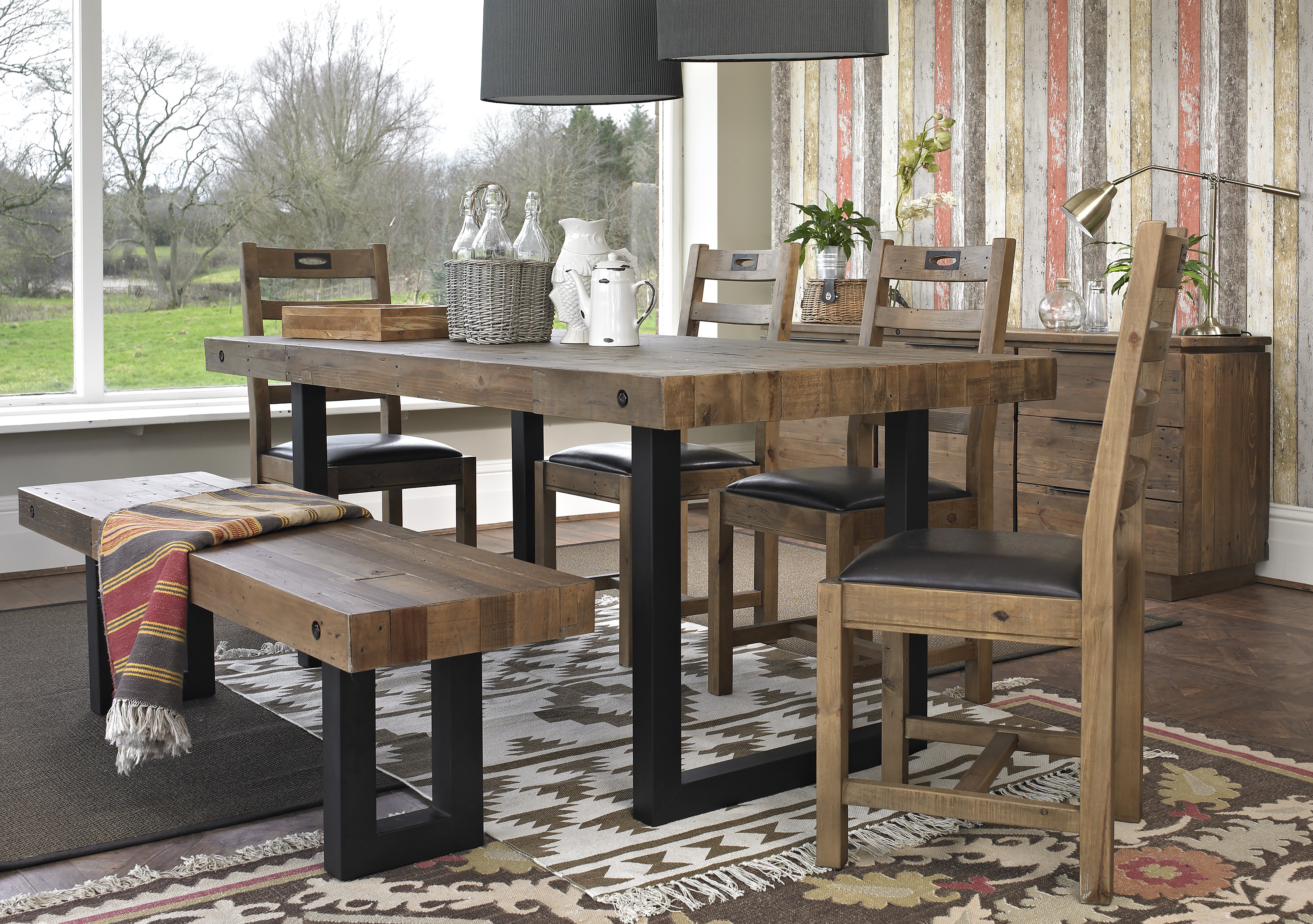 Furniture Village Dining Tables hoxton dining table with 4 chairs - furniture village