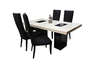 Hyatt Dining Table with 4 Upholstered Chairs in  on FV