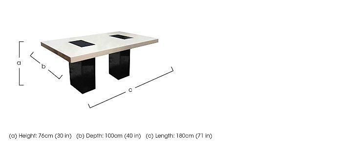 Hyatt Marble Dining Table in  on FV