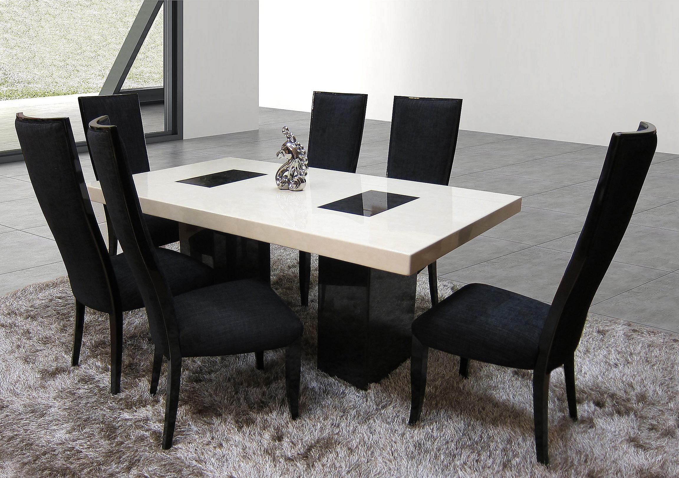 Luxury marble dining table - Hyatt Marble Dining Table