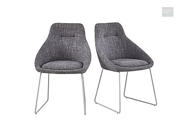Jakob Pair of Upholstered Dining Chairs  in {$variationvalue}  on FV