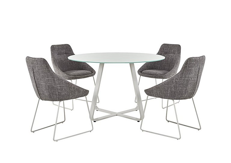 Jakob Table and 4 Upholstered Chairs  in {$variationvalue}  on FV