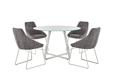Jakob Table and 4 Upholstered Chairs in  on FV