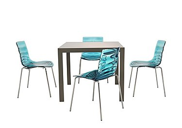Key Extending Table with 4 L'eau Chairs
