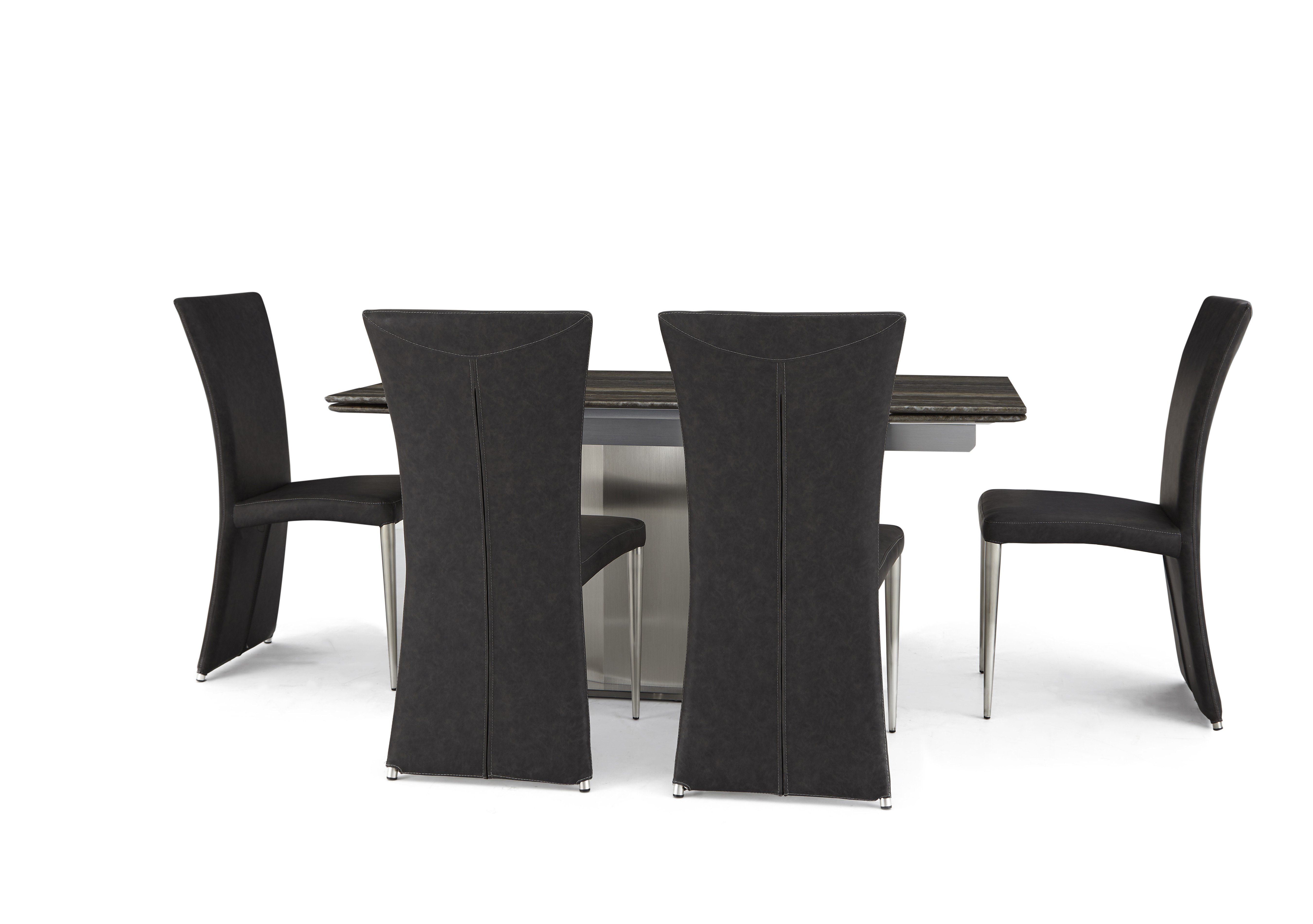 Long Island Extending Dining Table and 4 Edison Chairs Furniture