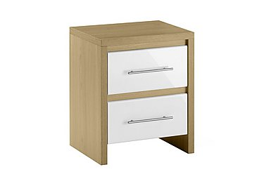Lorelle 2 Drawer Bedside Table in  on FV