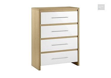 Lorelle 4 Drawer Chest  in {$variationvalue}  on FV