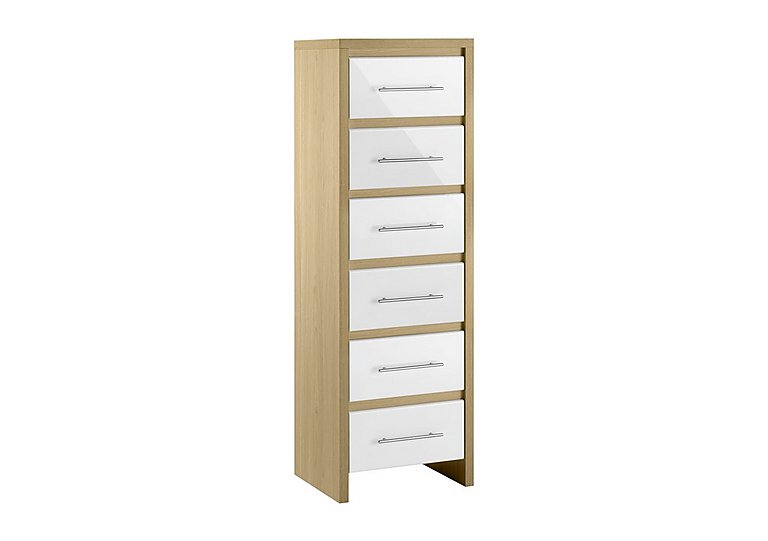 Lorelle 6 Drawer Narrow Chest in  on FV