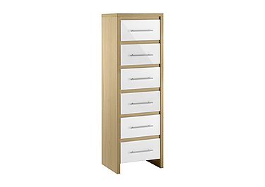 Lorelle 6 Drawer Narrow Chest