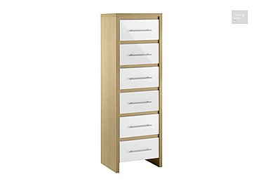Lorelle 6 Drawer Narrow Chest  in {$variationvalue}  on FV