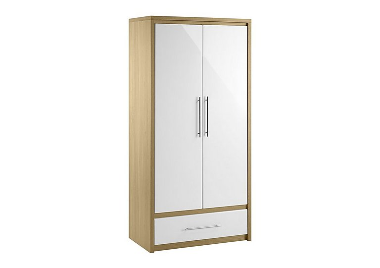 Lorelle 2 Door Wardrobe with Drawer  in {$variationvalue}  on FV