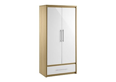 Lorelle 2 Door Wardrobe with Drawer in  on FV
