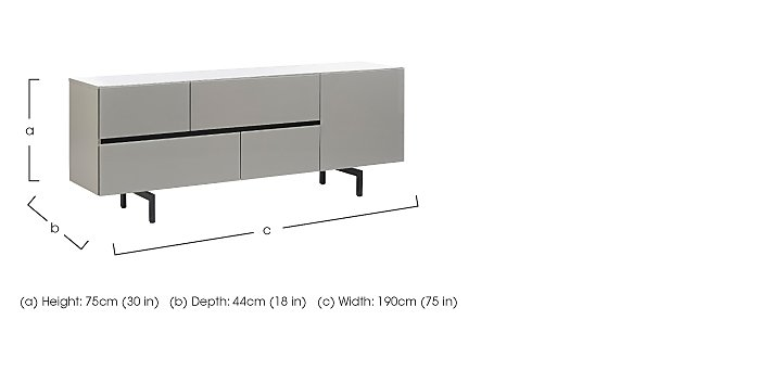 Lurano Sideboard 1 Door and 4 Drawers in  on FV