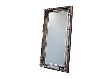 Carved Louis Leaner Silver Mirror in  on FV