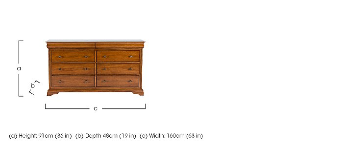 Louis Philippe 4+4 Drawer Chest in  on FV