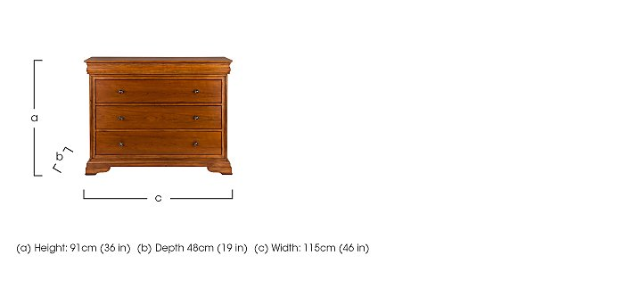 Louis Philippe 4 Drawer Chest in  on FV
