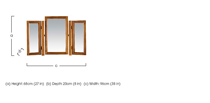 Louis Philippe Gallery Mirror in  on FV