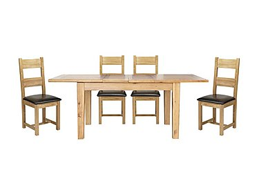 Lyon Extending Table & 4 Wooden Chairs in  on FV