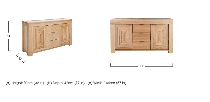 Maze Large Oak Sideboard in  on Furniture Village