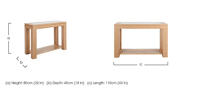 Maze Oak Console Table in  on FV