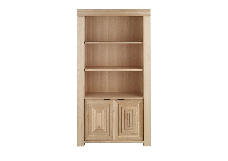 Maze Tall Oak Bookcase
