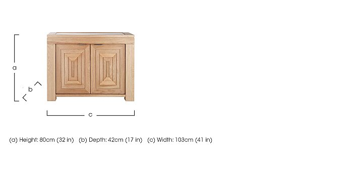 Maze Small Oak Sideboard in  on FV