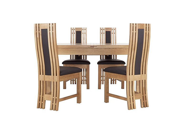 Modena Small Table and 4 Wooden Chairs in  on FV