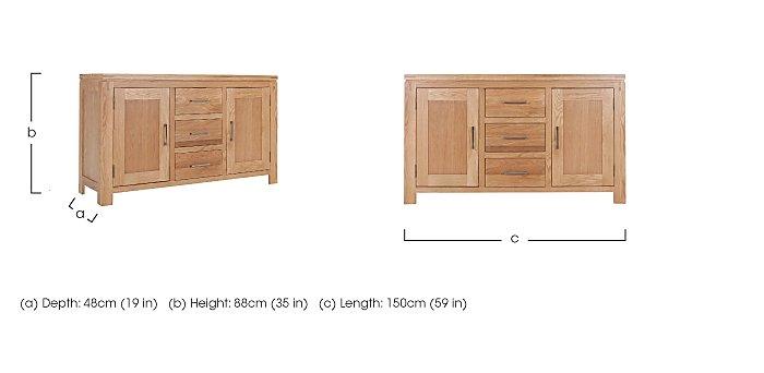 Modena 2 Door 3 Drawer Oak Sideboard in  on FV