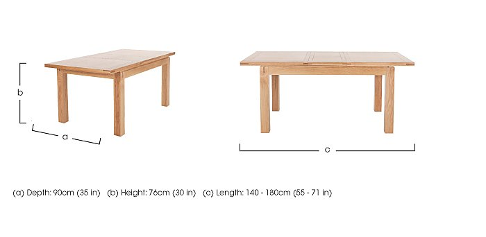 Modena Small Extending Dining Table in  on FV