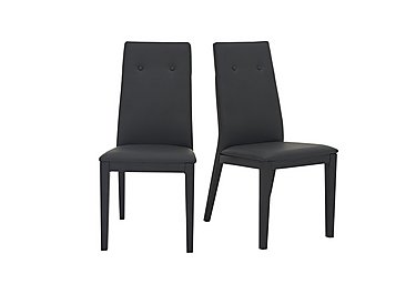 Monaco Pair of Faux Leather Dining Chairs in  on FV