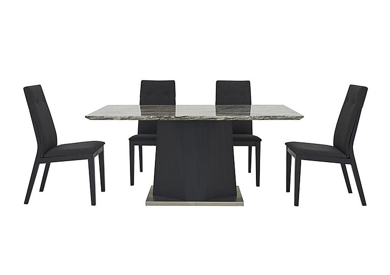 Monaco Dining Table and 4 Fabric Chairs in  on FV