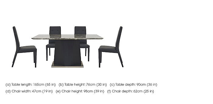 Monaco Dining Table and 4 Faux Leather Dining Chairs in  on FV