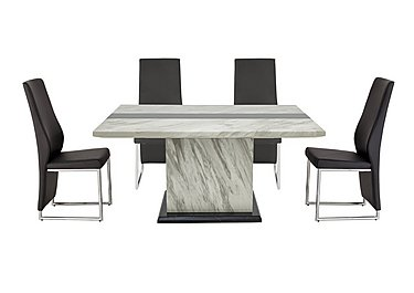 Mont Blanc Dining Table and 4 Chairs